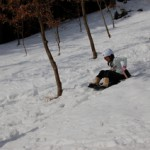 雪で学校も休みです。
