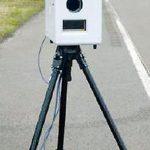 私の通勤道路に移動式速度取締カメラ
